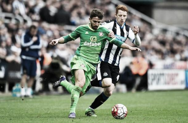 Fabio Borini in action in Sunderland's 1-1 draw with Newcastle United last Sunday | photo: Twitter