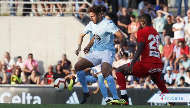 Borja en uno de sus partidos como celeste | Foto: RC Celta