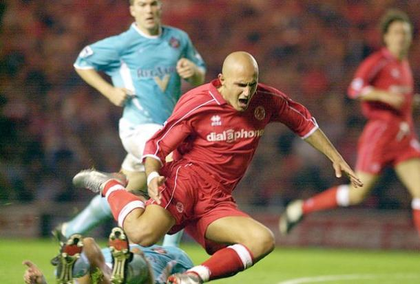 Szilard Nemeth bagged a brace for Boro on a memorable night at the Riverside. (Image source: The Gazette)