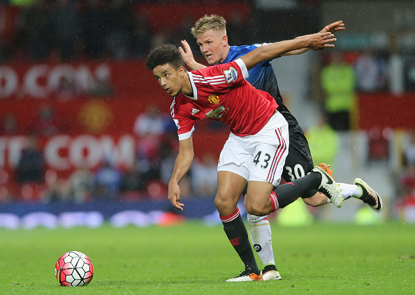 Borthwick-Jackson in action against AFC Bournemouth | Photo: Tom Purslow/Manchester United