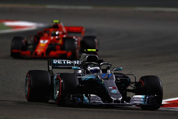 Bottas durante la carrera en Bahrain | Fuente: Getty Images.