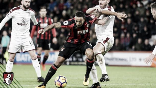 King en la derrota ante el Burnley. Foto: https://twitter.com/afcbournemouth