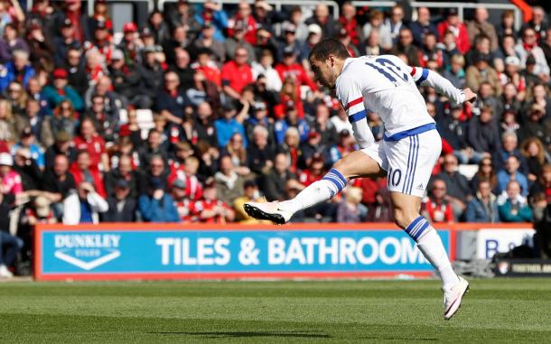 La seconda rete di Eden Hazard contro il Bournemouth | Foto: Reuters/ Paul Childs