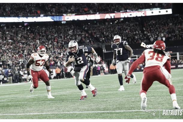 Tom Brady se quedó con el primer duelo entre ambos y Mahomes quiere revancha (Imagen: Patriots.com)