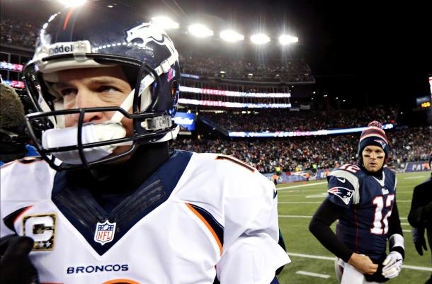 Brady and Manning have faced off 16 times (Getty)