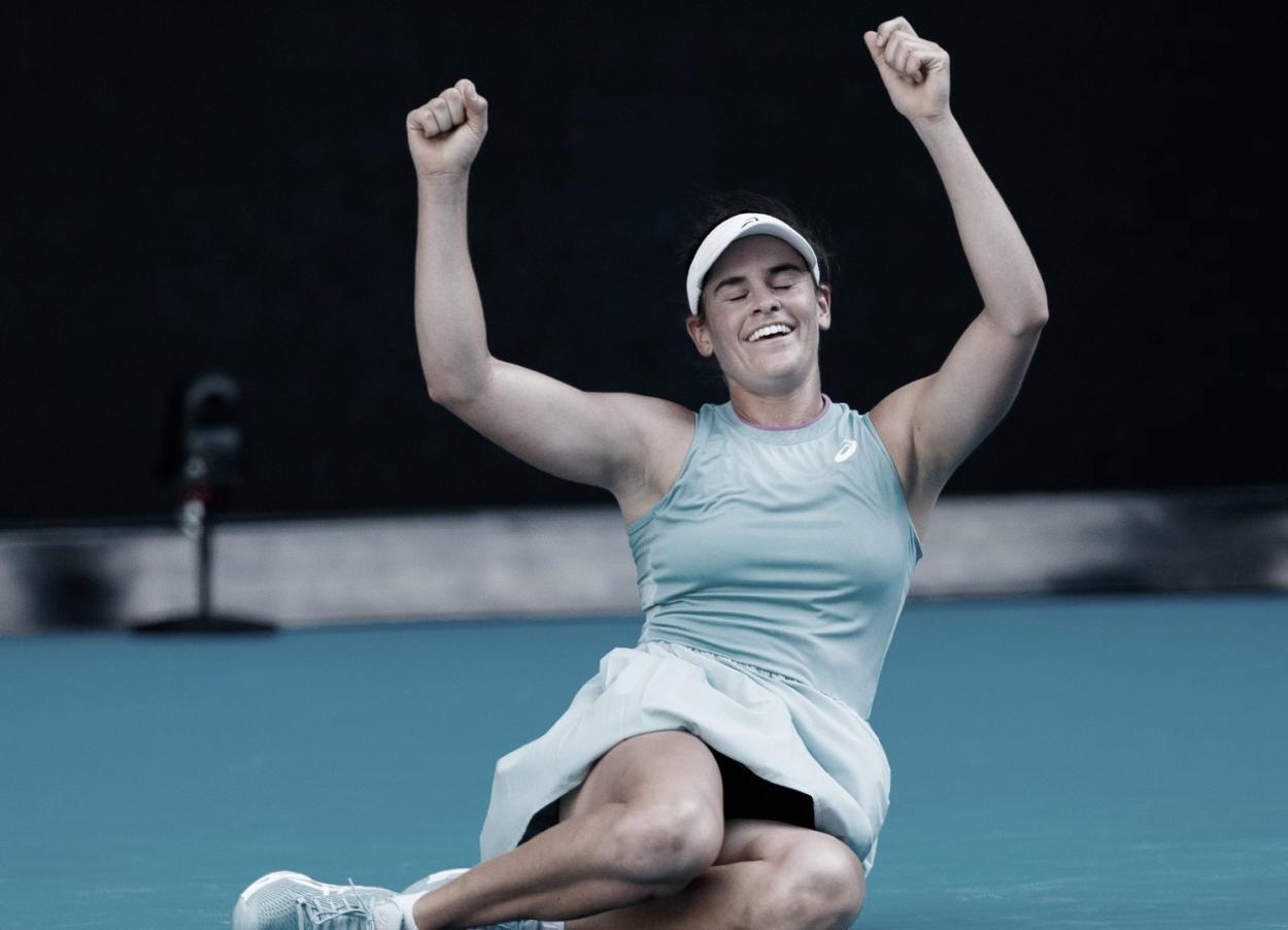 Así celebró su paso a la final Jennifer Brady Foto: @AustralianOpen