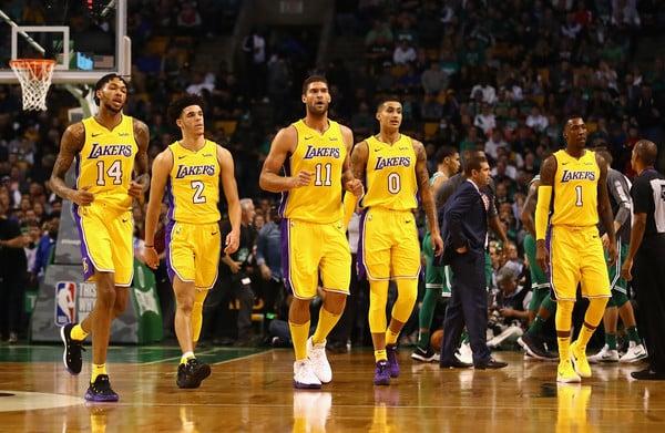 Quinteto actual de Los Ángeles Lakers | Fotografía: Getty Images