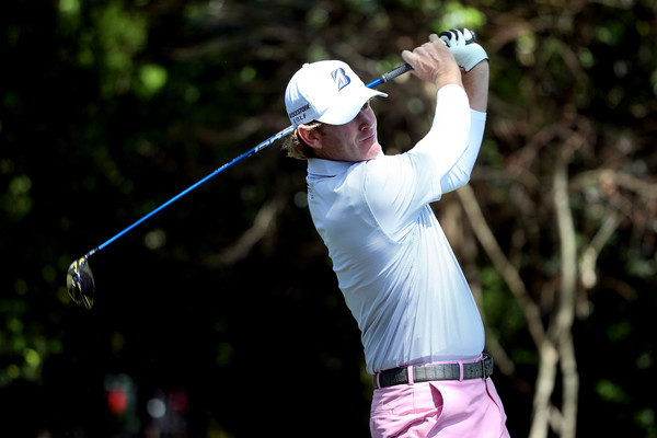 Snedeker hits a drive in Augusta. Photo: Andrew Redington/Getty Images