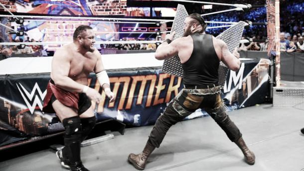 Braun took the fight to everyone involved. Photo-WWE.com