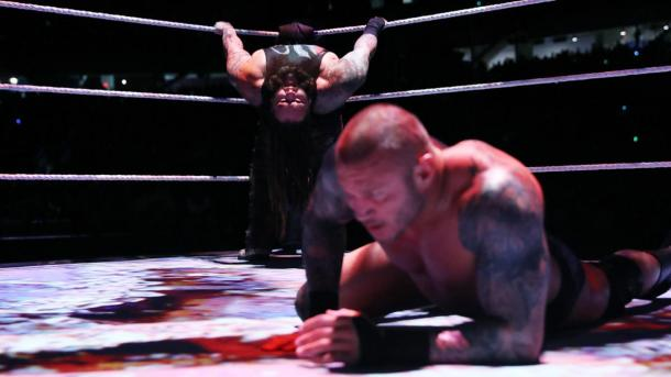 Randy Orton was a victim of Bray Wyatt's mind-games but still reigned supreme on the grand stage (image: wwe,com)