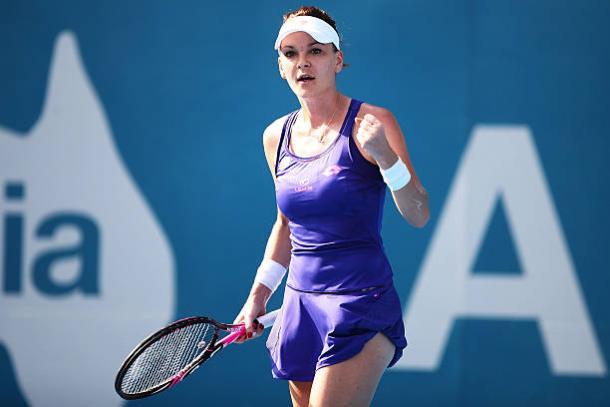 Agnieszka Radwanska in action in Sydney (Getty/Brendon Thorne)