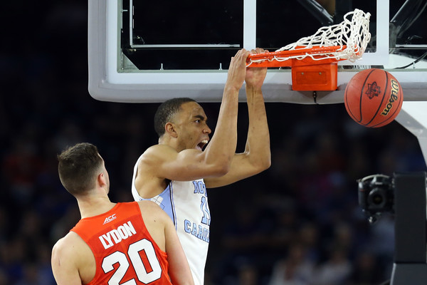 Johnson once again led the Tar Heels to the win, one rebound shy of a double-double (Photo: Streeter Lecka/Getty Images).
