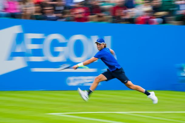 Broady felt certain that the ball was out on his second match point. Photo: LTA