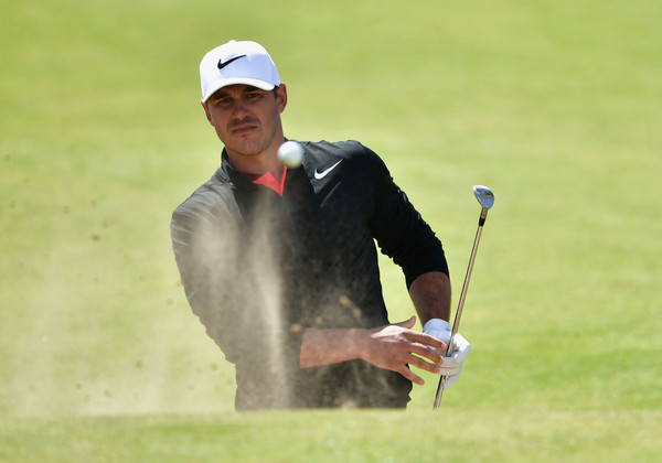 This hole-out from the bunker on 17 gave Koepka a share of the first-round lead/Photo: Stuart Franklin/Getty Images Europe