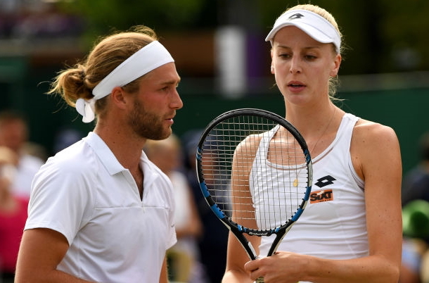 Photo: Shaun Botterill/Getty Images-Liam Broady with his sister Naomi Broady.