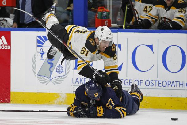 The Buffalo Sabres ruined Rick Nash's debut with the Bruins in this February 25th game. (Photo: AP)