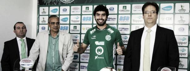 Bruno Mendes anunciado no começo do ano (Foto: Divulgação/Guarani FC)