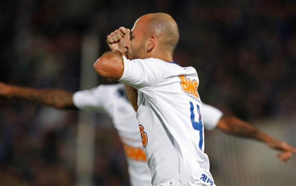 Bruno Rodrigo foi um dos autores dos gols do Cruzeiro sobre a Universidad de Chile fora de casa na Libertadores de 2014 (Foto: Reuters)
