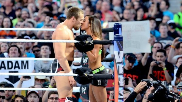 The kiss that cost him the title. Photo wwe.TheExaminer.co.uk