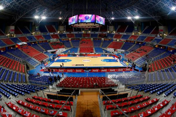 Vista interior actual del Fernando Buesa Arena. | Foto: Getty