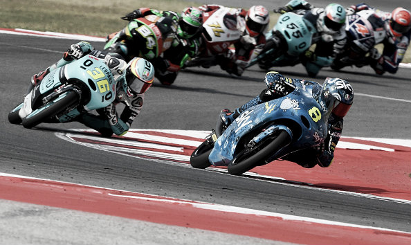 Bulega had a strong start to the Moto 3 race | Photo: Mirco Lazzari/gp/Getty Images
