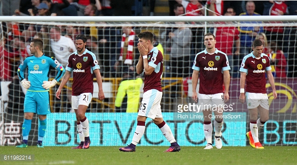 Burnley were shell-shocked after Arsenal's winner (Photo: Getty Images)