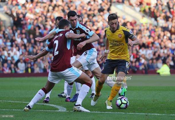 The Burnley defence were a wall that Arsenal couldn't break through | Photo: Getty