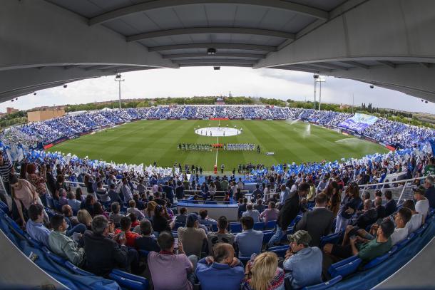 Butarque antes de un partido del Leganés | Foto: cdleganes.com