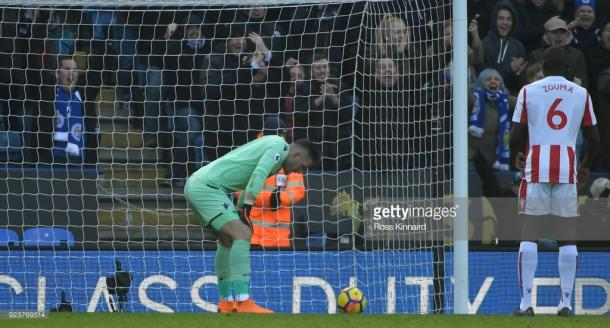 Jack Butland looks dejected following his error. Source | Getty Images.