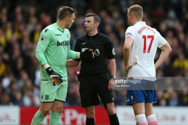 Stoke City goalkeeper, Jack Butland, and captain Ryan Shawcross. Source | Getty Images.