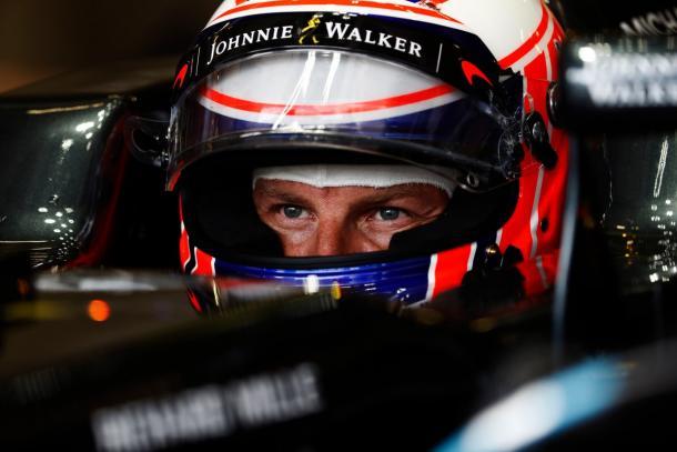 Jenson Button foi uma das grandes surpresas da classificação, em terceiro (Foto: Divulgação/McLaren)