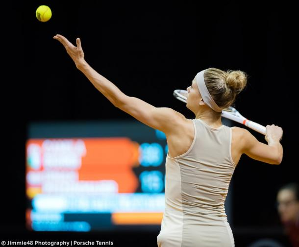 Camila Giorgi in action at the Stuttgart Open last week, where she lost in the first round of qualifying | Photo: Jimmie48 Tennis Photography