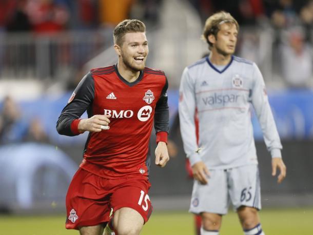 Eriq Zavaleta scored Toronto's second against Chicago | Source: John E. Sokolowski-USA TODAY Sports