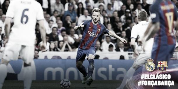 Azione di gioco di Ivan Rakitic   Source photo: profilo Twitter Barcellona