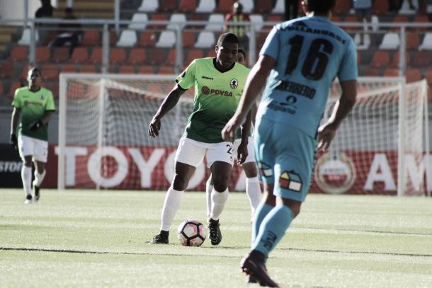 Ricardo Clarke en el duelo ante Deportes Iquique en Calama / Foto: Prensa Zamora FC