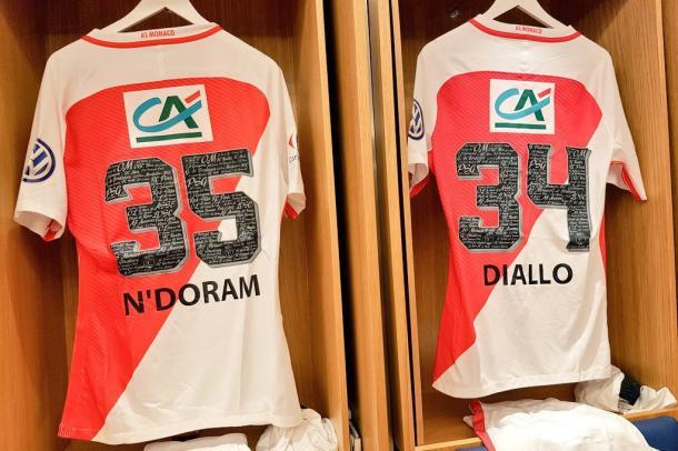 Le maglie di N'Doram e Diallo. Foto: Twitter