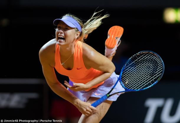 Maria Sharapova's serve was just brilliant yesterday | Photo: Jimmie48 Tennis Photography