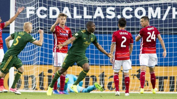 Fanendo Adi pushed Portland ahead in the first half | Source: Tim Heitman-USA TODAY Sports