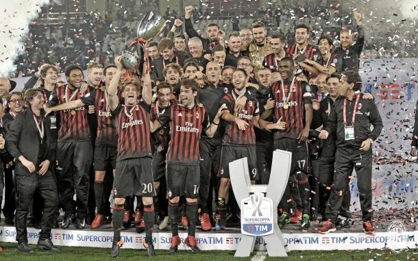 Il Milan ha vinto la Supercoppa italiana 2016 - twitter milan