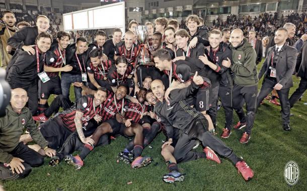 Esultanza del Milan - Fonte: twitter acmilan