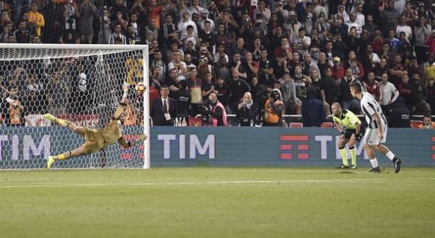 Il rigore parato a Dybala che risulterà decisivo | Foto: @ilmsgitsport