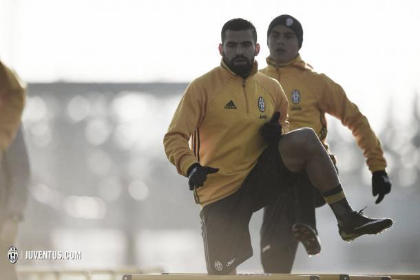 Tomás Rincón en su primer entrenamiento con la Juventus / Foto: Juventus.com