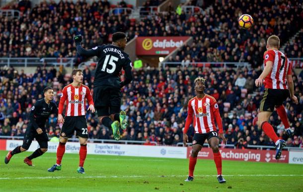 Il gol di Sturridge. Fonte: https://twitter.com/lfc