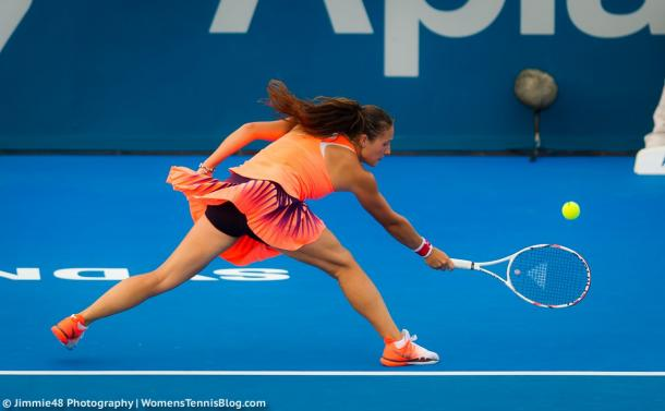 Kasatkina in action today | Photo: Jimmie48 Photography