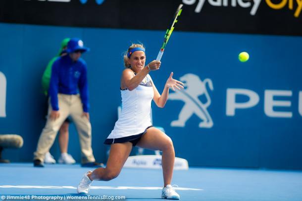 Monica Puig fell in 3 sets to Caroline Wozniacki   Photo: Jimmie48 Tennis Photography