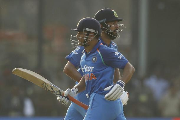 Yuvraj and Dhoni were in fine form for India during the game in Cuttack | Photo: ECB