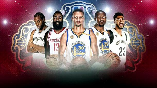 Starting Five per la Western Conference. | Fonte immagine: Twitter @NBATV