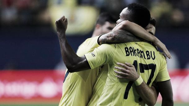 Bakambu comemora um de seus gols | Foto: Divulgação/Villarreal CF