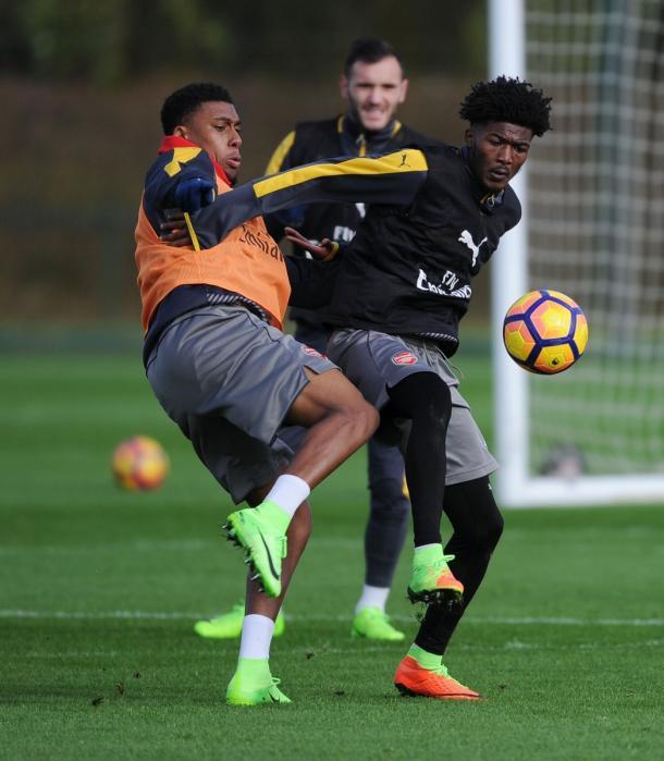 Shoot dall'allenamento della vigilia dell'Arsenal.   Fonte: twitter.com/arsenal