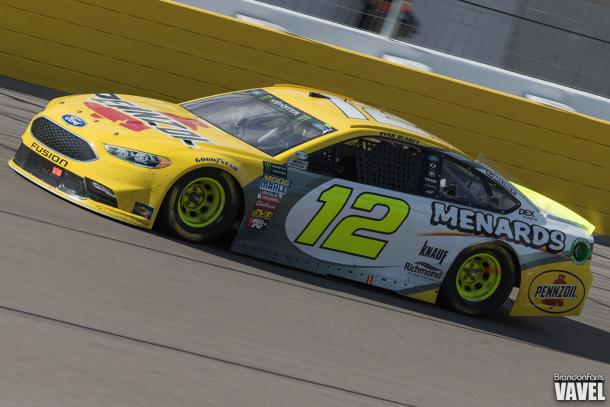 Ryan Blaney came home in fifth to retain third place in the season standings.